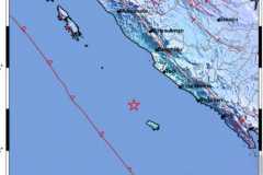Gempa magnitudo 5.4 terjadi di barat laut Enggano, Bengkulu